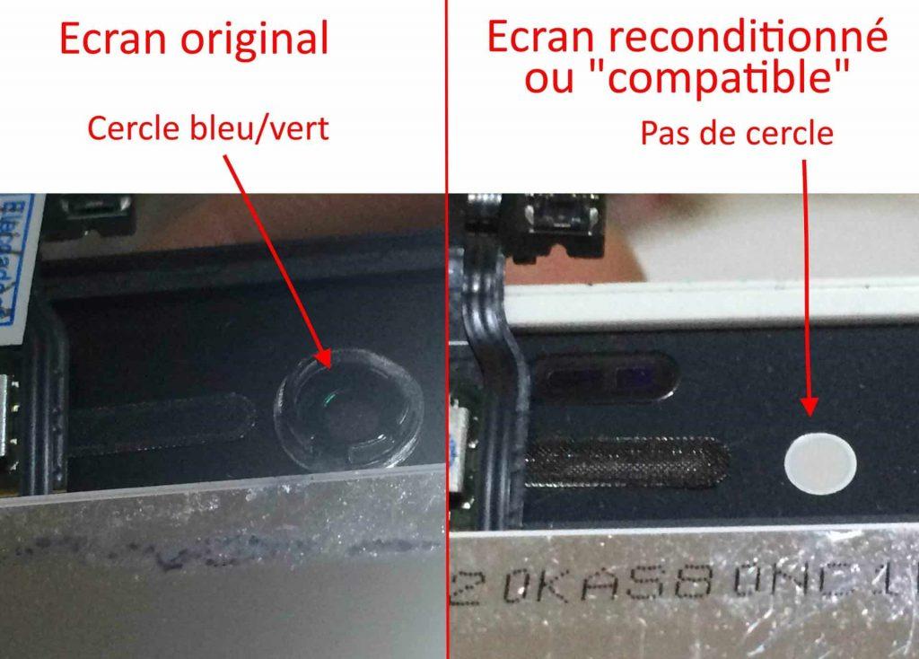 cercle camera frontale ecran iphone 4 4s
