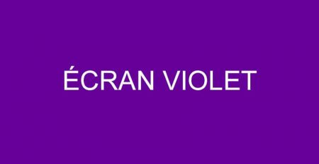 ecran-violet iphone