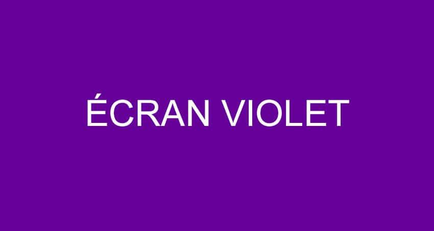 ecran-violet iphone