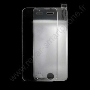 protection ecran verre trempe iphone 5 avec un iphone 5 dessus