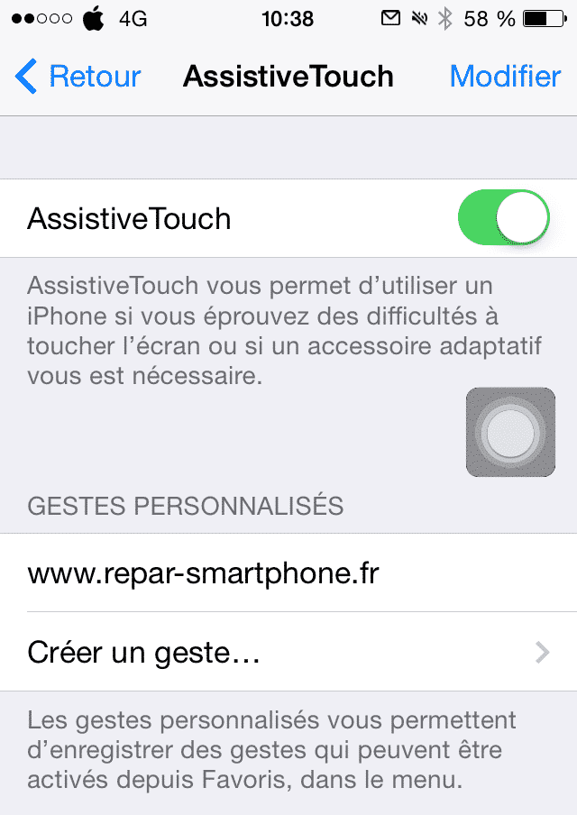 activation assistiveTouch