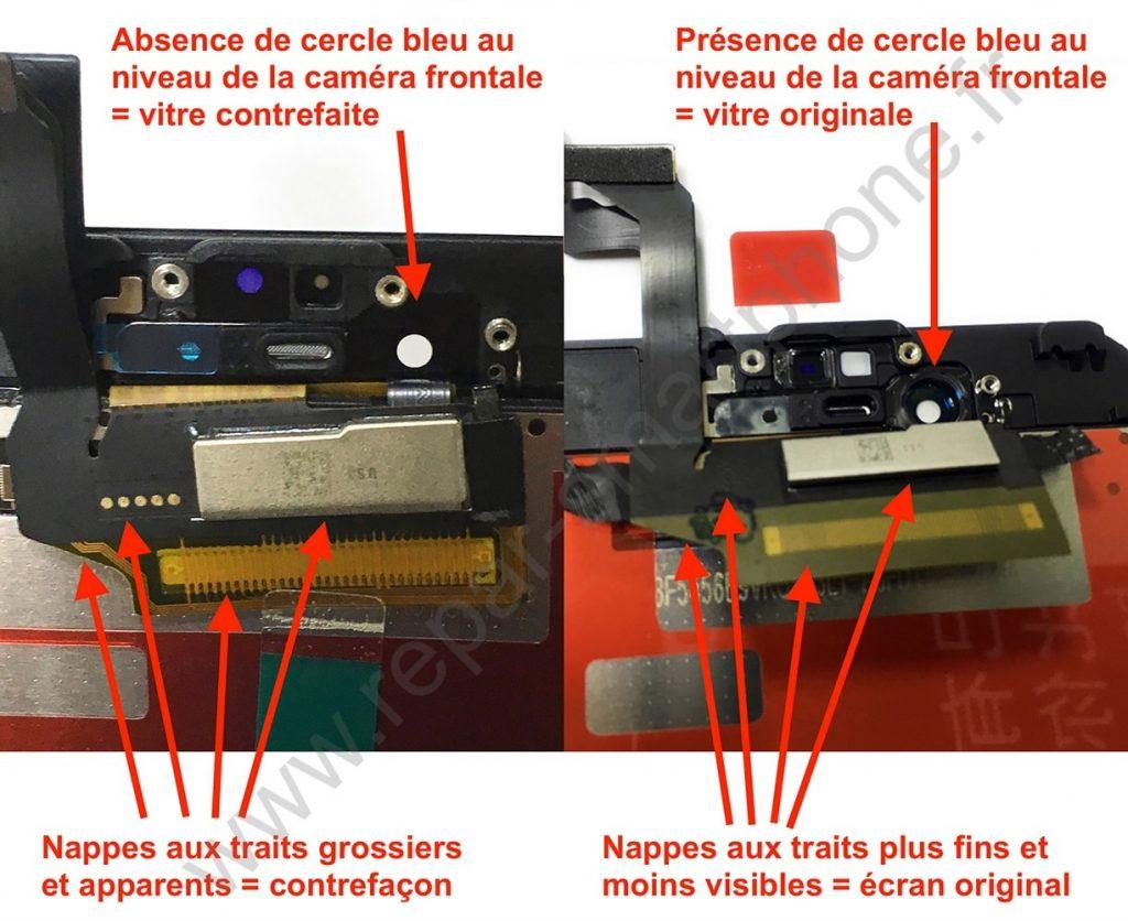 ecran noir 6S comparaison avec texte et watermark