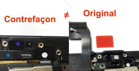 ecran noir 6S comparaison original