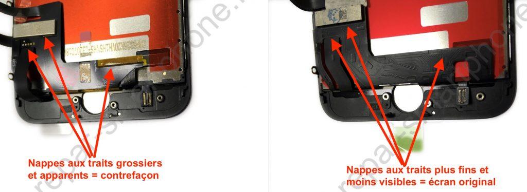 ecran noir iphone 7 bas