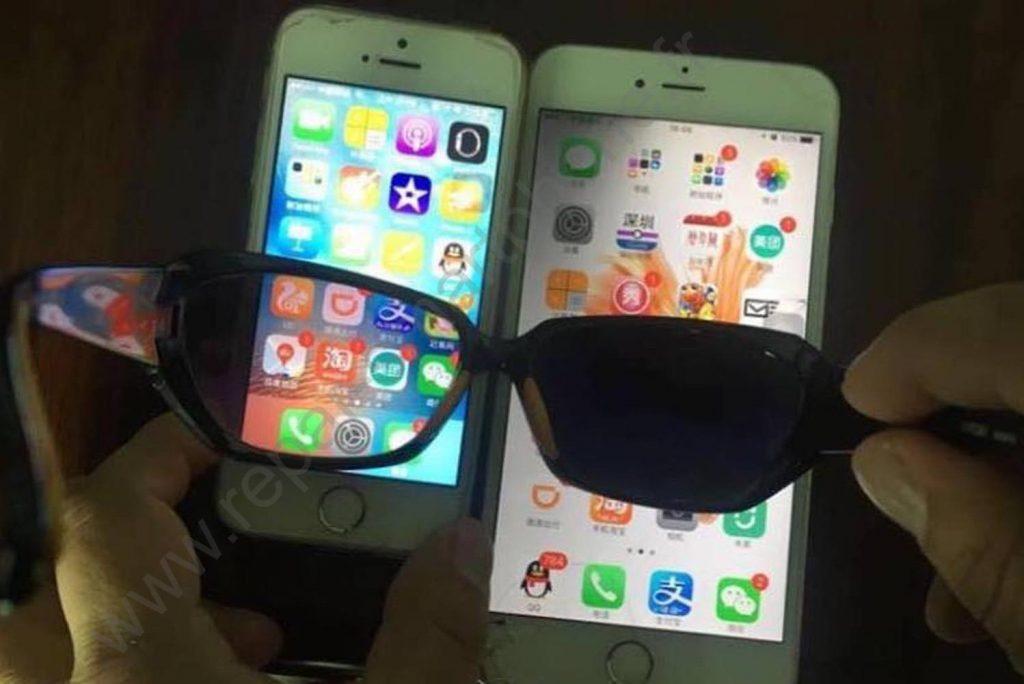 lunettes de soleil ecran original contrefait