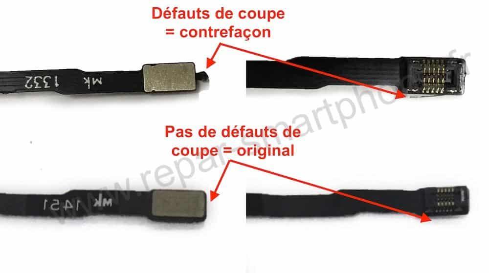 nappe contrefaite originale comparaison iPhone 5 5S