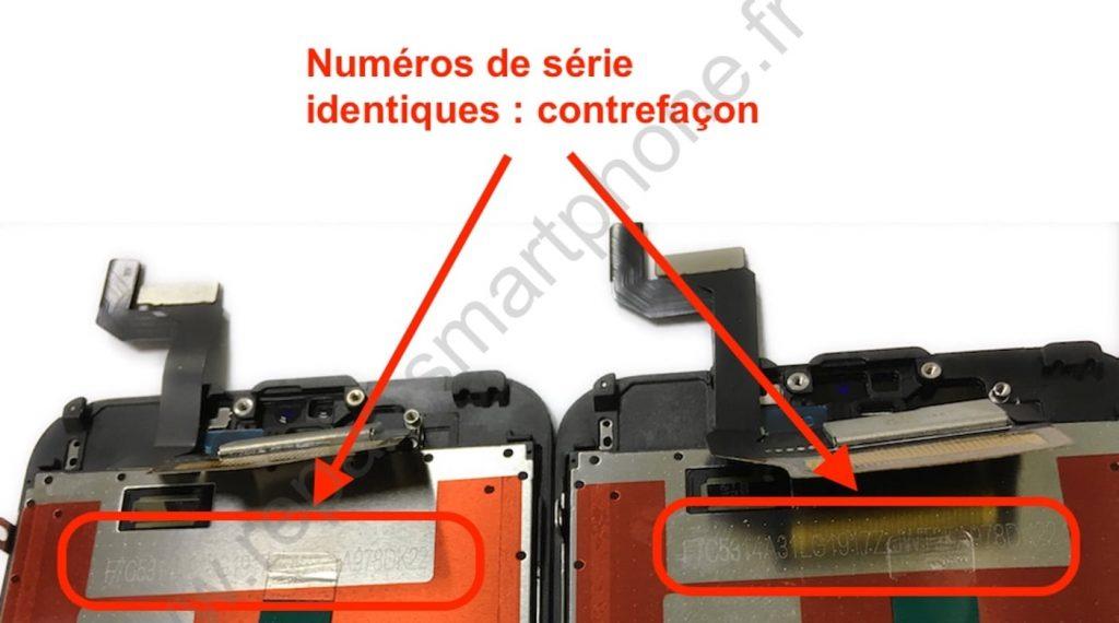numeros de serie identiques contrefacons iphone 6s