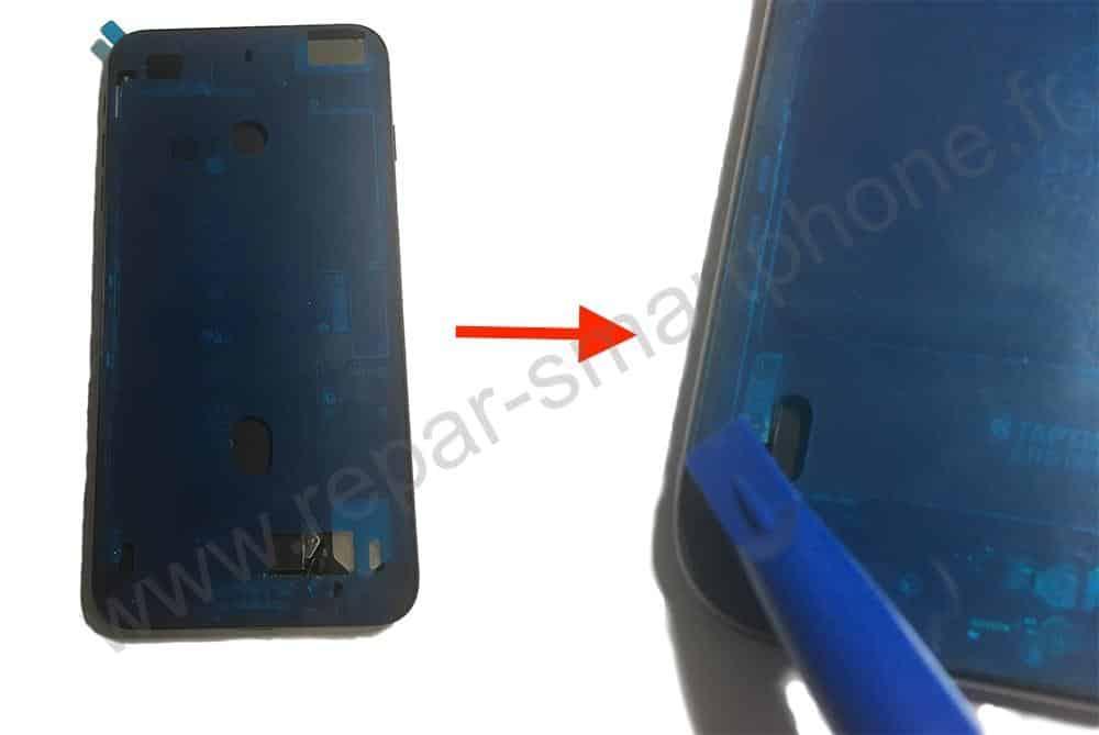 pose du sticker etancheite iPhone 6s, 7, 8
