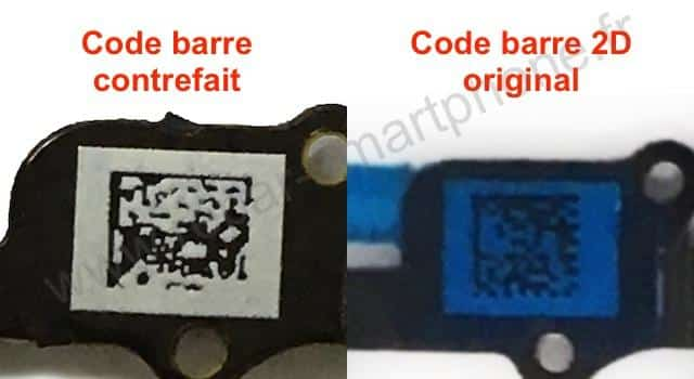 nappe contrefaite originale bouton home iphone 6 comparaison code barre