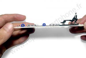 Plaque metallique arriere iphone 5S et SE 2