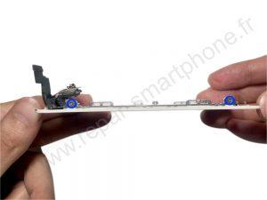 Plaque metallique arriere iphone 5S et SE 3
