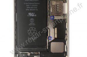 Retirer la plaque de la batterie de l'iPhone