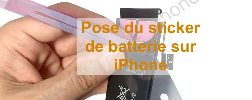 Sticker batterie iPhone 5 SE