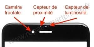capteur de proximite sur la vitre iphone 6