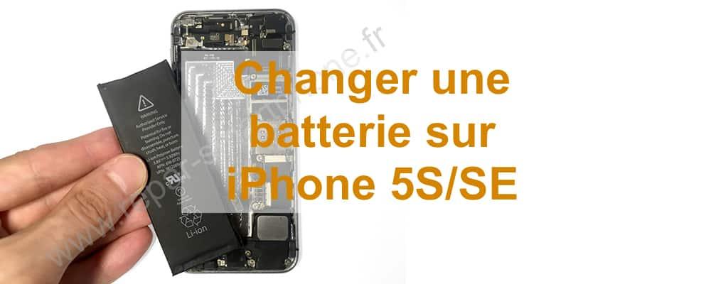 changement de batterie iPhone 5S SE