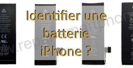 Batterie iPhone identifier apercu