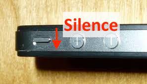 bouton silence iphone