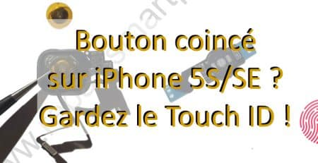 changement du bouton home iphone 5s SE apercu