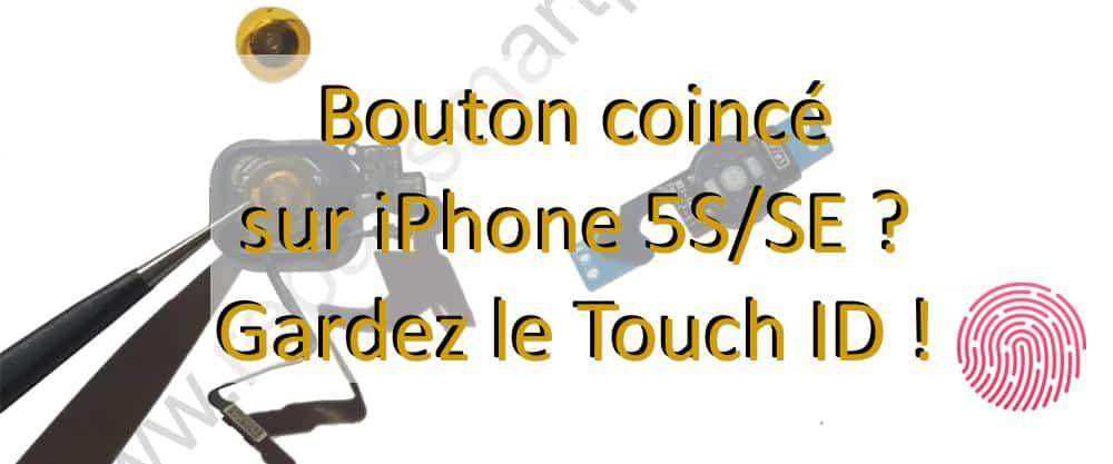 changement du bouton home iphone 5s SE apercu