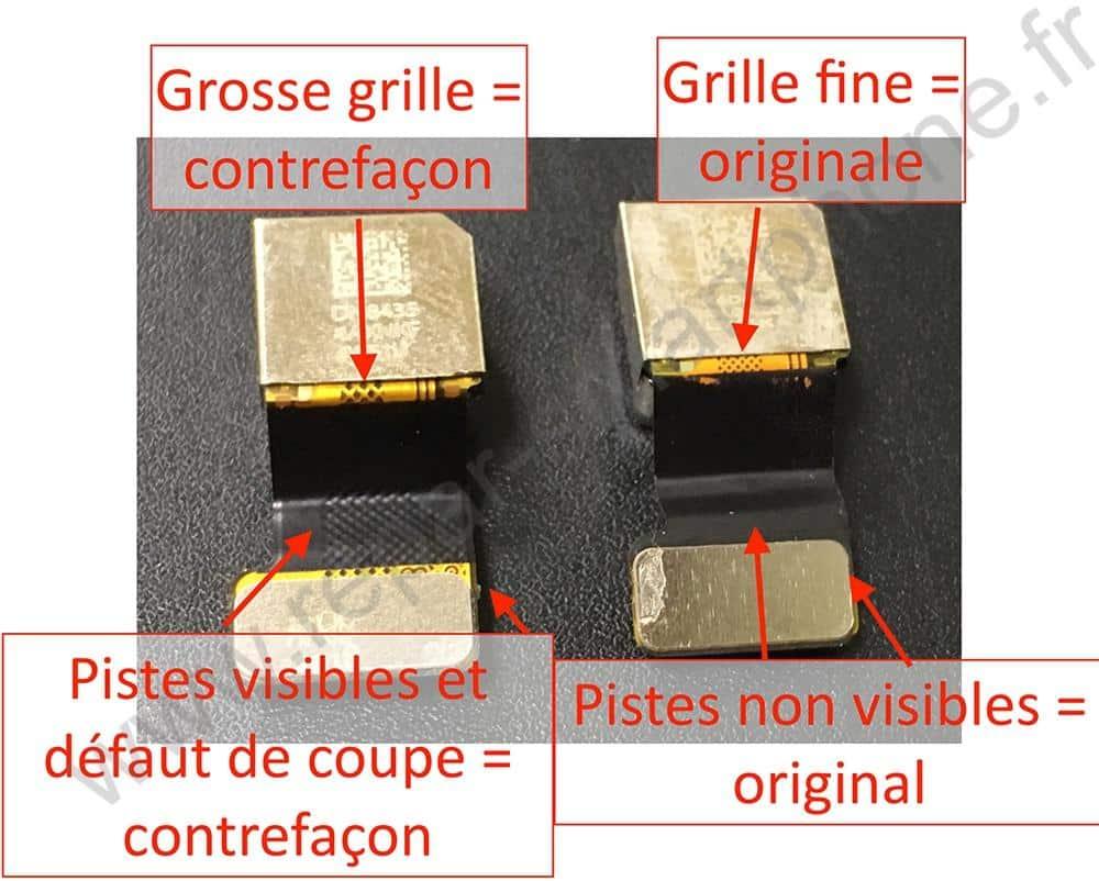 comparaison appareil photo original et contrefait iphone 5, 5S, 5C, SE