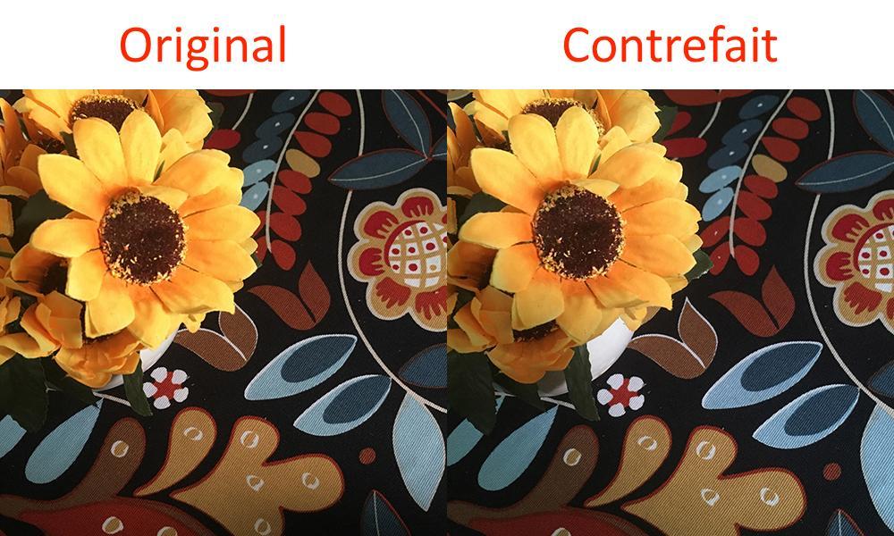 comparaison appareil photo iphone original et contrefait photo