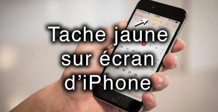 tache jaune ecran iphone apercu