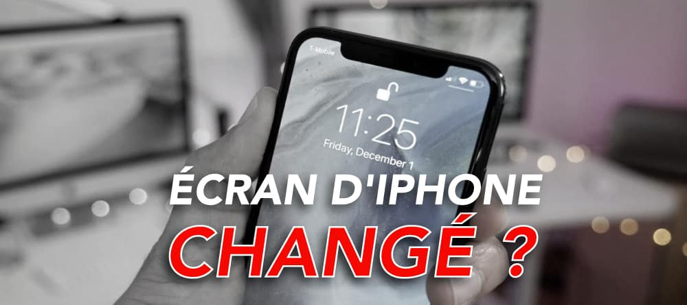 ecran iphone change