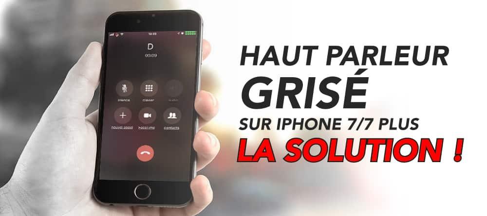 haut parleur grise iphone 7 7 plus