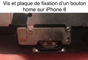 position correcte des vis et de la plaque du bouton home sur iPhone 6