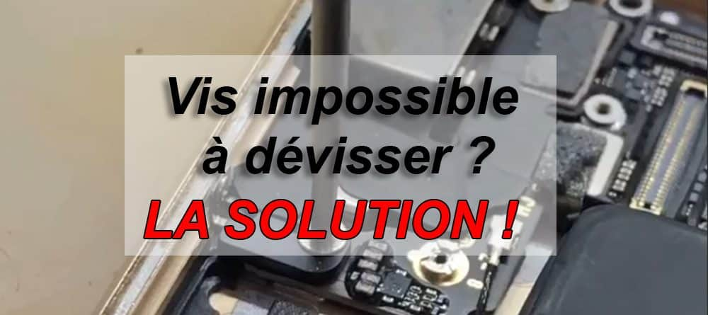 vis impossible a devisser iphone solution apercu