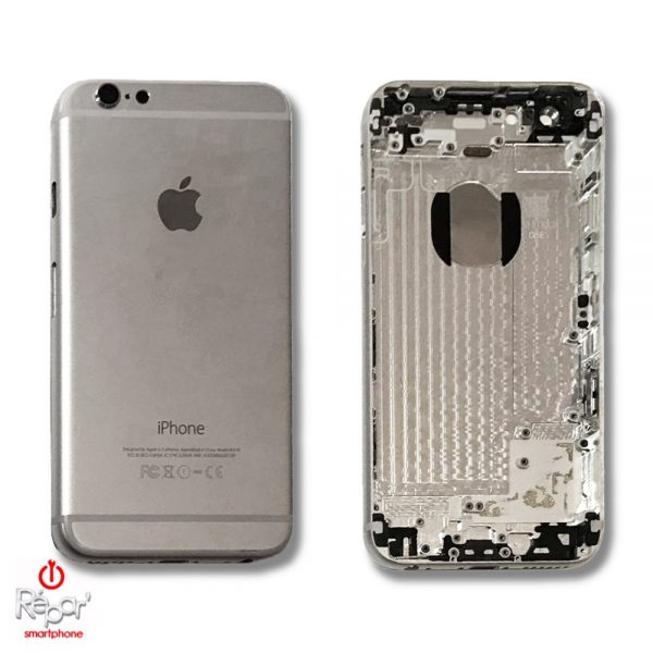 chassis coque arrière iphone 6 argent original img1