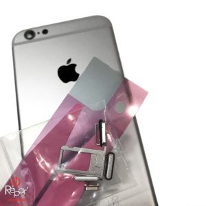 chassis coque arrière iphone 6 argent original img2