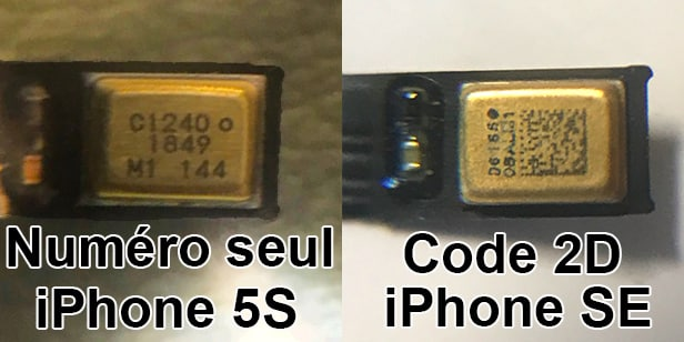 comparaison micro camera frontale iphone 5s se txt