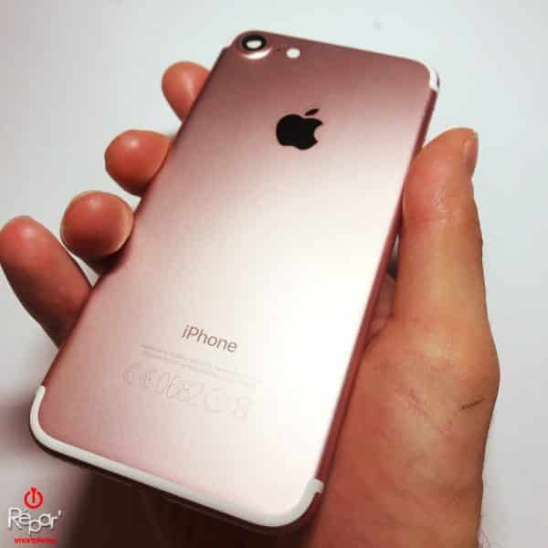chassis coque arriere iphone 7 or rose img2