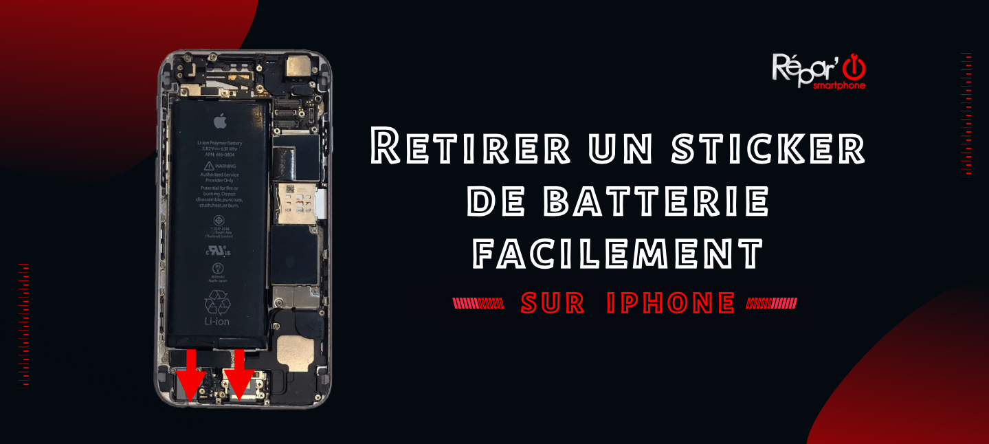 retirer facilement un sticker de batterie sur iphone apercu